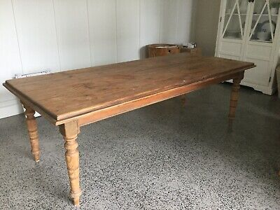 Vintage Country Style Pine Table , 8 Seater.