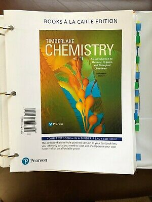 Chemistry An Introduction to General Organic and Biological 13th Ed loose-leaf