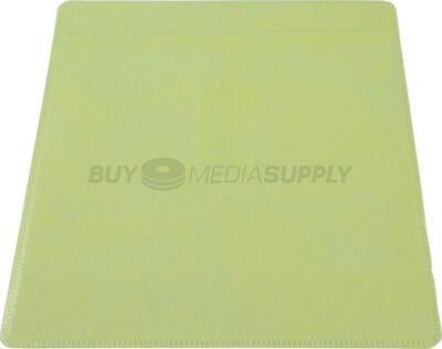 Non woven Yellow Color Plastic Sleeve CD/DVD Double-sided