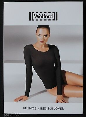 WOLFORD BUENOS AIRES PULLOVER 58238, TOP, SMALL, in madeira (4743), New in box