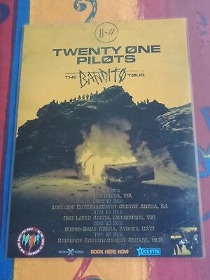 TWENTY ONE PILOTS - 21 PILOTS - 2018 Australia Tour Poster- Laminated - Official