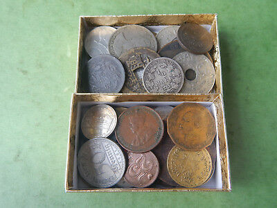50+ Lot Of Various Foreign Coins INCLUDES 1800s and SILVER Coins Lot #185