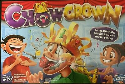 Chow Crown Game Kids Electronic Spinning Crown Snacks Food family fun Gift New !