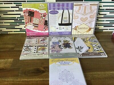 Machine Embroidery Designs CD's  x 7 Lot 2