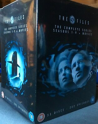 The X Files Complete seasons 1+2+3+4+5+6+7+8+9 + 2 movies DVD Box Set New Sealed