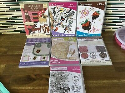 Machine Embroidery Designs CD's  x 7 Lot 3