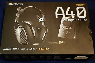ASTRO Gaming A40 TR Headset + MixAmp Pro TR. PlayStation 4 and PC headphones blk