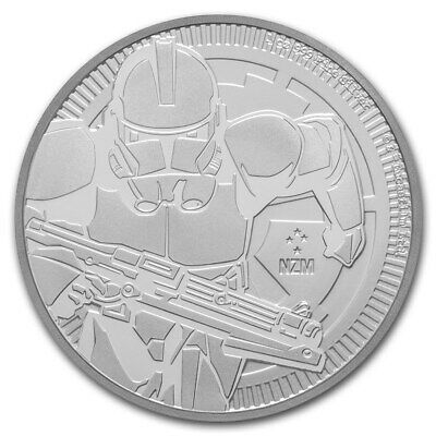 NIUE 2 Dollars Argent 1 Once Star Wars Clone Trooper 2019