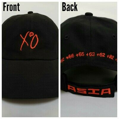 63e7f8d9f THE WEEKND ASIA Tour Hat / XO Baseball Cap *In Hand* Last One!
