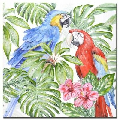 NEW Two Parrots Red&Blue Parrot Birds Hand Painting Home Decor Wall Art 80x80m