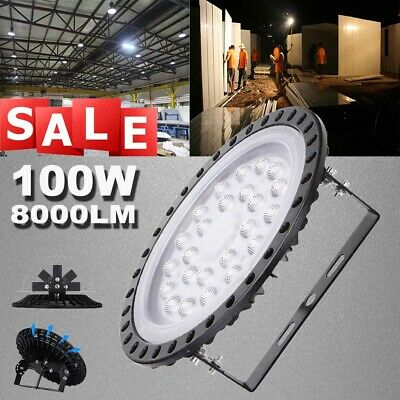 100W 1PC UFO LED High Bay Light Industrial Warehouse Commercial Factory Lamp UK