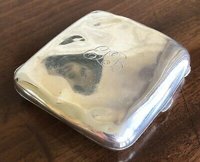 Silver Cigarette Case, Birmingham 1916, c.101g. Goldsmiths And Silversmiths Co.