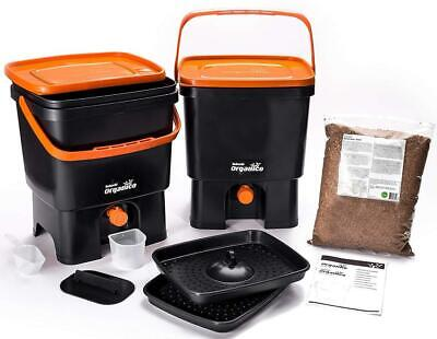 Skaza - mind your eco Bokashi Organico Kitchen composter, Black/Orange