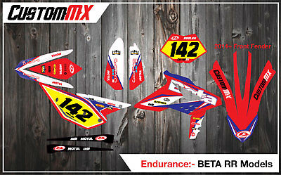 BETA RR X Trainer Graphics Kit with custom numbers etc 250/300/350/430/480