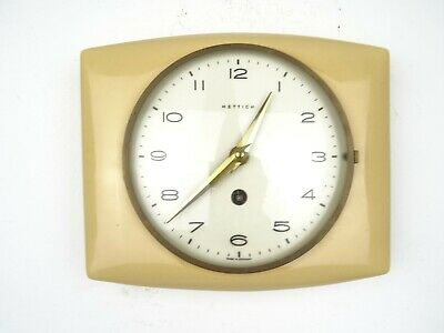 Vintage Kitchen Wall Clock HETTICH Ceramic Retro (Kienzle Kienzle Hermle era)