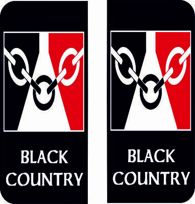 1 x Black Country Flag Vinyl Stickers Decals Window Car Van SKU5671