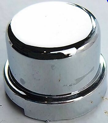 "nut covers(5) 7/16"" flat top hat chrome plastic 1/2"" tall Kenworth Freightliner"