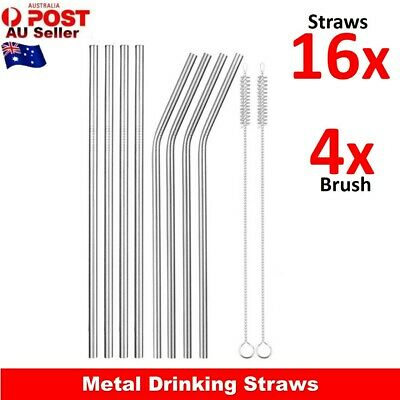 Stainless Steel Metal Straws Drinking Straw Brush Nylon Pipette Cleaners Pipe AU