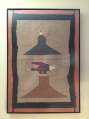 Vintage Native American Indian Rug Weaving Art $299