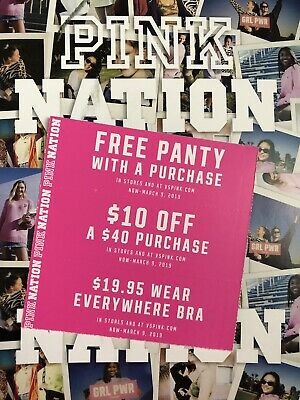 e2e5cd90c1 VICTORIA S SECRET PINK Nation Coupons Valid now through March 9 ...