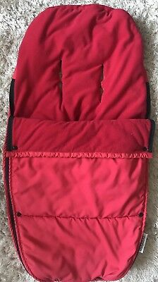 Bugaboo Universal Red Fleece Footmuff, Cosey Toes, Pre-owned