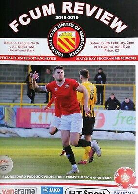 FC United of Manchester v Altrincham 2018/19 2019 National North Programme