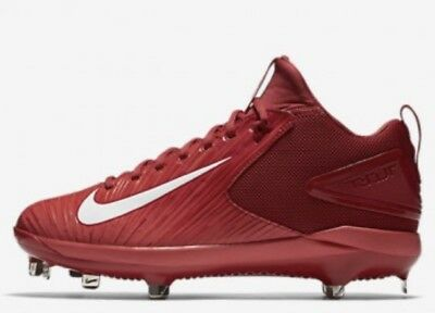 NIKE Force Mike Trout 3 Pro Metal Baseball Cleats Shoes Varsity Red White 12