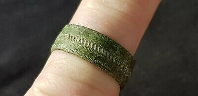 Superb VR Viking copper herring bone design ring, please read description. L124n