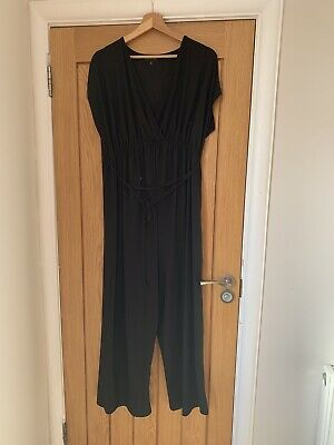 Next Black Maternity Jumpsuit Size 14