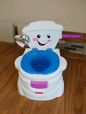 Kids Talking Sounds Toilet My Potty Friend Fisher-Price Musical Fun Toy USED
