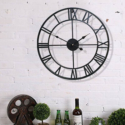 40Cm 60Cm Extra Large Roman Numerals Skeleton Wall Clock Big Giant Round