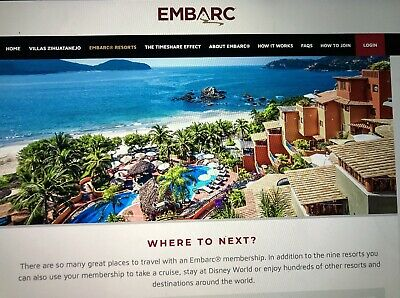 Embarc**240 Points**annual Multi-Destination Timeshare!!