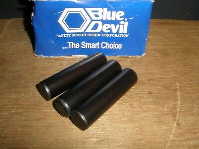 "3/4"" X 3"" Dowel Pin Steel Solid Blue Devil Black Oxide Ebony Finish USA (Qty.3)"