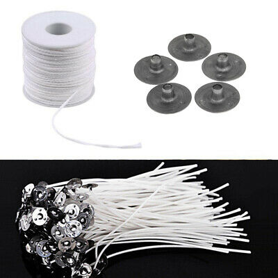 Oil Lamps Square Braid Candlestick Sustainer Tabs Cotton Wick Wax Candle Core