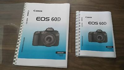 ~PRINTED~ Canon EOS 60D 60Da  Full User guide Instruction manual   A5