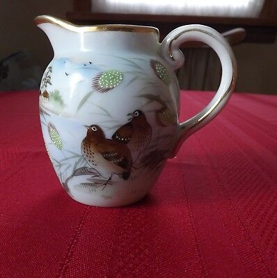 Beautiful Little Hand Painted Japanese Pitcher. Excellent Condition. About 4.5""