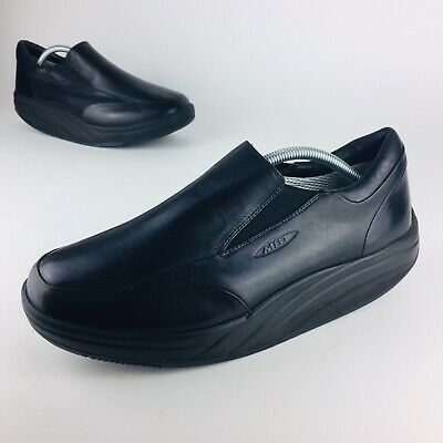 f81ba3f1342a MBT Mens 10 Loafers Slip On Shoes Black Leather Walking Toning Fitness  Comfort
