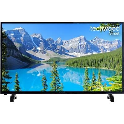 """NEW Techwood 50"""" Smart TV With Freeview Play - Black [A+ Rated] Hd Television"""