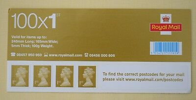 100 x 1ST CLASS GOLD GENUINE UNUSED ROYAL MAIL SELF ADHESIVE STAMPS - NEW