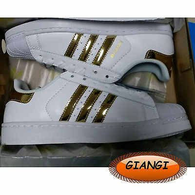 purchase cheap a8eac bda3a Scarpe Adidas Superstar Oro Lucido 2017 Unisex Numero 36 A 44 Uomo donna  Moda