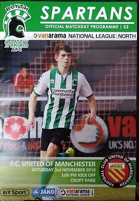 Blyth Spartans vs FC United of Manchester 2018/19 National North Programme