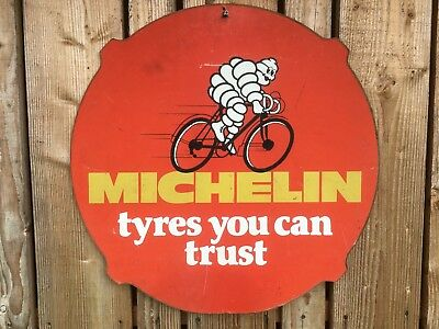 Vintage Michelin oil sign advertising garage old automobilia petrol tyre shop