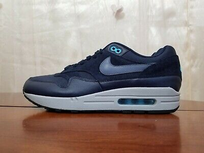 Nike Air Max 1 Premium Obsidian Navy Blue Fury Black Carbon 875844 401 Sz  9.5 76b9205c2
