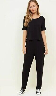 New Look - Maternity Black Layered Nursing Jumpsuit - Size 14 - BNWOT