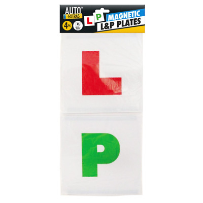 4 Magnetic L P Pass Plates Learner Driver Exterior Car Driving Lesson Sign Plate