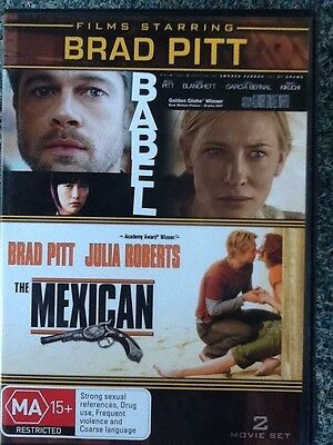 BABEL / THE MEXICAN - Brad Pitt / Kate Blanchett / Julia Roberts - 2 discs #1259
