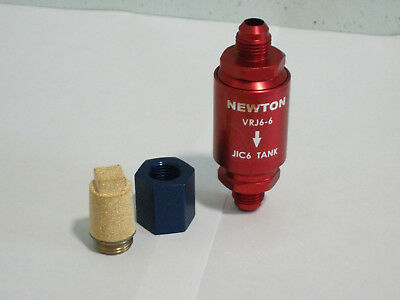 Newton Vrj6-6  Fia Compliant Fuel Tank Vent/ Roll Over Valve, Adapter & Filter