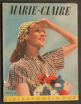 'marie-Claire' French Vintage Magazine Holiday Issue 6 August 1937