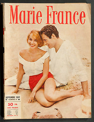 'marie-France' French Vintage Magazine September 1957