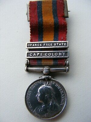 Queens South Africa Medal 2 Bar Clasps Cape Colony Orange Free State Boer War
